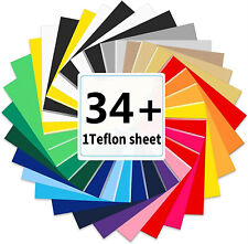 Htv Heat Transfer Vinyl Bundle 12x10 34 Sheets Iron On Vinyl For T Shirts