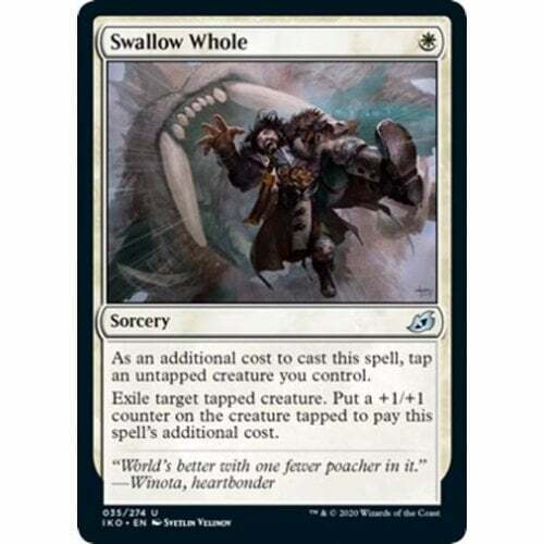 FOIL NM Card Swallow Whole Lair of Behemoths MTG Ikoria