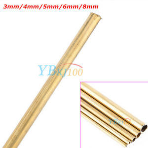 Outer-Diameter-3-8mm-Round-Brass-Tubes-200mm-long-0-5mm-Wall-Project-Tube-Pipe