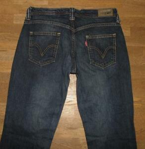LEVI-S-1529-Schlag-Jeans-elastische-Damen-LEVIS-in-dkl-blau-ca-W27-034-L32-034