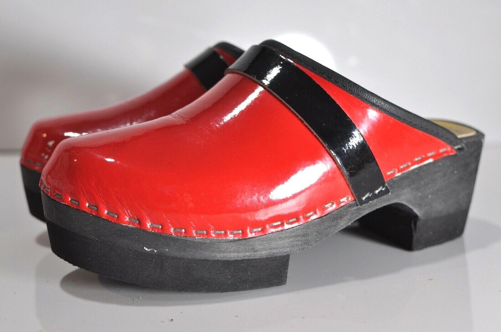 Regatearle Zuecos rojo tamaño 36 36 36 Hecho En Suecia  precios mas baratos