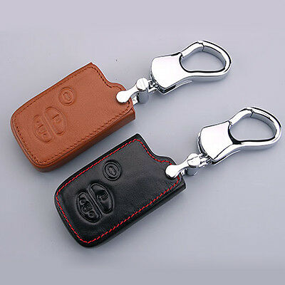 Leather Car Remote Key Fob Case Holder Cover F/ Toyota Prius Crown Smart Key G35