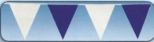 1 Pennant Chain Garland 10m Blue//White Garlands Plastic