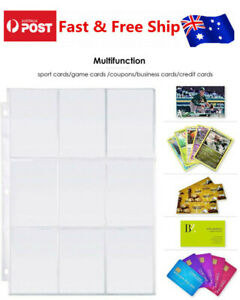 20X-Card-Sleeves-Collector-Binder-Cards-Album-Baseball-Pokemon-Holder-Sheets-AU