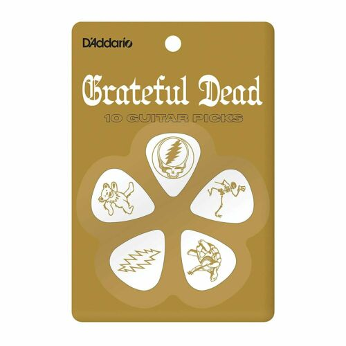 D/'Addario Accessories Grateful Dead Icons Guitar Picks White Celluloid,...