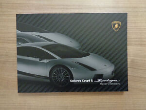 Lamborghini Gallardo And Superleggera Owners Handbook Manual Ebay