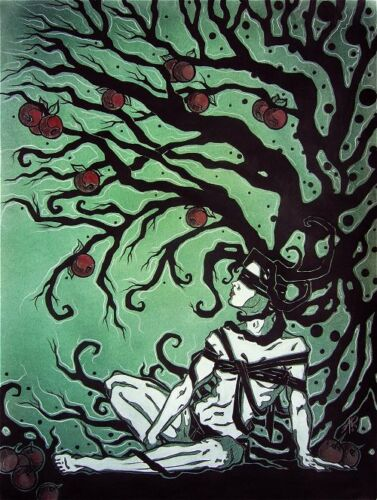 Gothic female tree of knowledge comic fantasy art ebsq limited edition