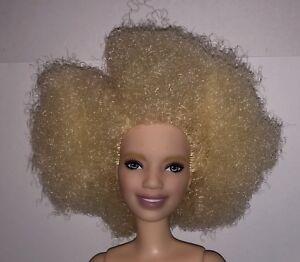 Barbie Fashionistas 91 Varsity Platitude Nude Albino Aa Doll Afro