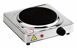 Dominion Stainless Steel Electric Burner Single Hot Plate Compact Cooktop
