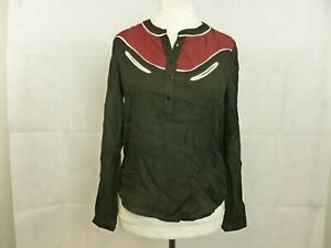 See-You-Soon-Black-Red-Bordeaux-Long-Sleeve-Top-Size-1-S-M-CR092-FF-11