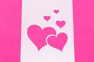 Love Hearts Design Mylar Stencil Craft Home Decor Painting