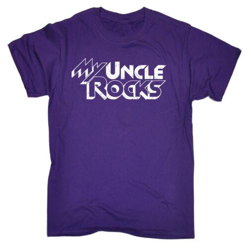 Mio ZIO Rocks T-shirt Compleanno Regalo Per Lui Famiglia Divertente Regalo Regalo di compleanno