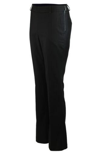 Haut Femme Noir Bleu Marine Coupe Droite Poche Tailored Workwear Smart Pantalon 8-18