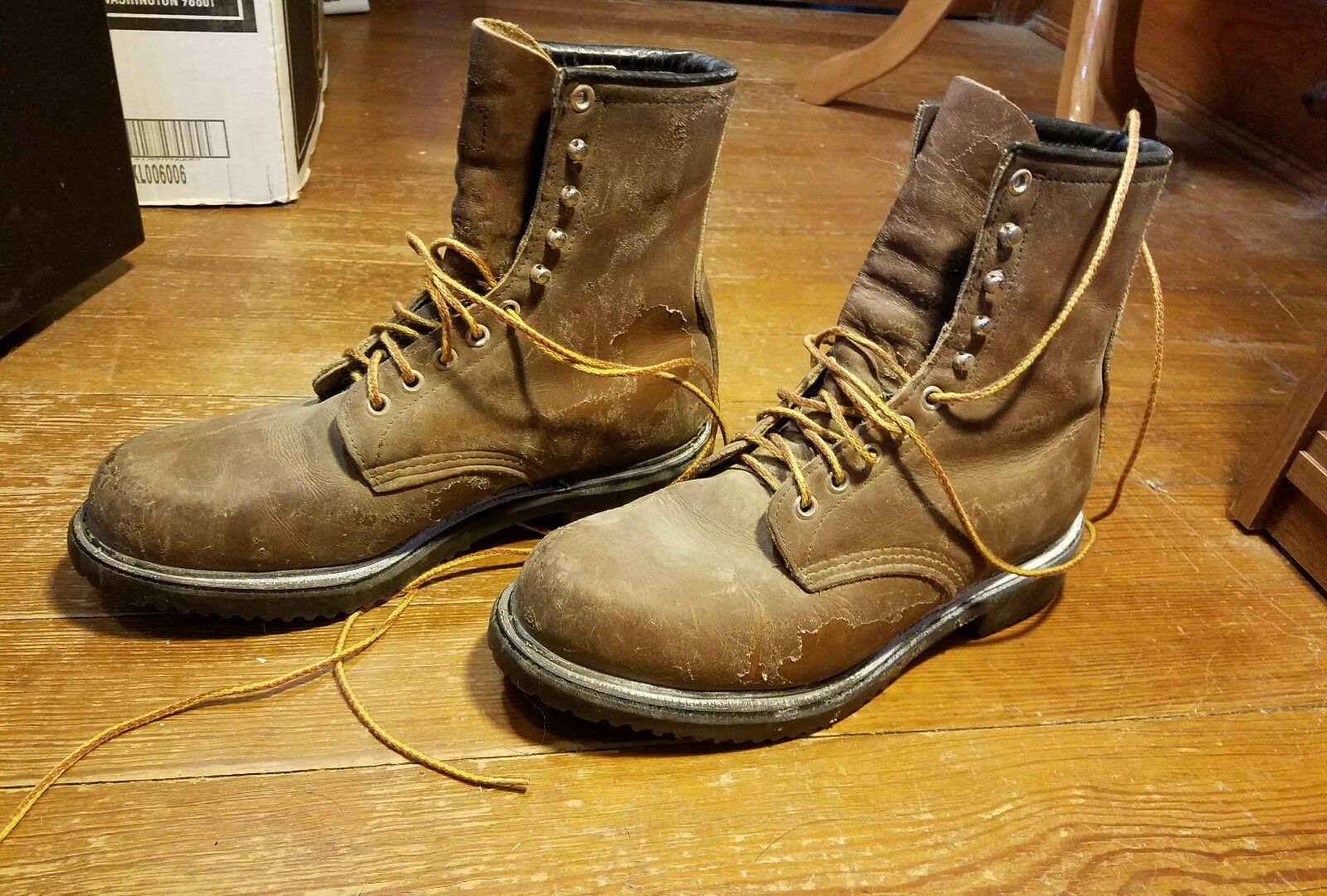 Vintage Men's Red Wing Insulated Leather Work Boots Size 8 D USA Made 05001