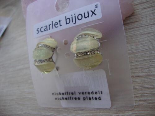 Scarlet Bijoux.2 x Ohrringe.Nickelfrei.Stecker.Silber