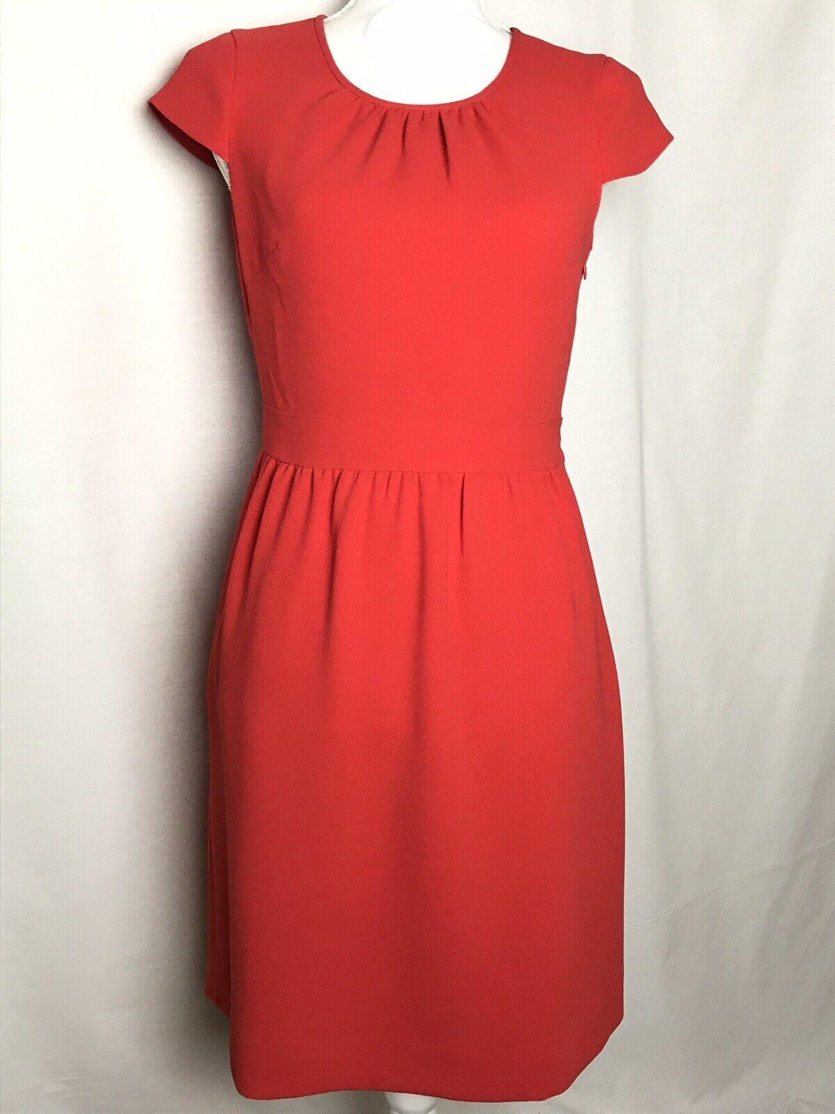 J. Crew rot Dress Sz 4 Cap Sleeve Career Wear Fitted NWT