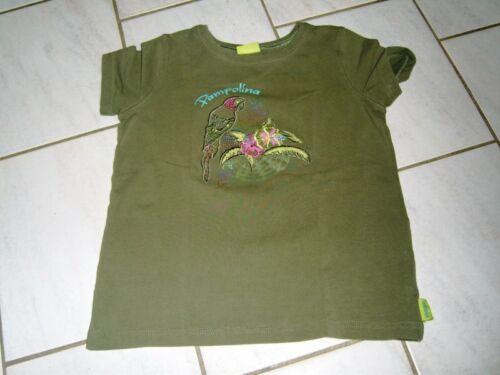 Traum T-Shirt PAMPOLINA Gr.122 khaki grün  Paradise Papagei neuwertig 2