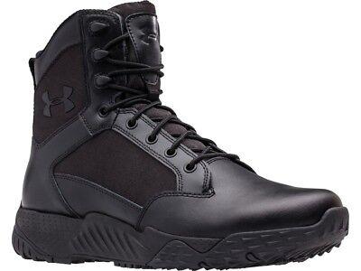 "Under Armour 1303129 Men's Stellar 8"" Side Zip Tactical Boots, Black"