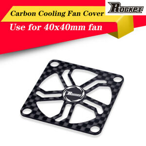 Rocket 40x40mm Graphite Fan Cover /& Screw for RC Motor Electric Regulating Cover