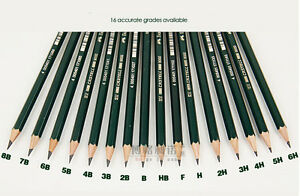 Faber Castell 9000 Pencil Sketch Pencil 16 pcs/lot 16 different Hardness