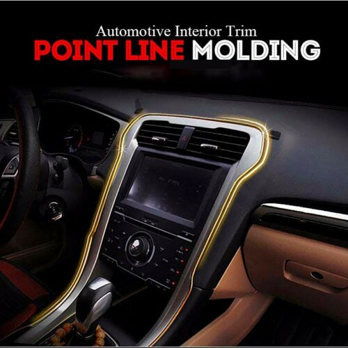 Upgrade metalfilm 5M Point Interior Accessory Molding Garnish Edge Gap Line gold