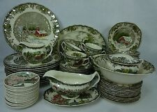 JOHNSON BROTHERS china FRIENDLY VILLAGe Made In England 79-piece SET SERVICE