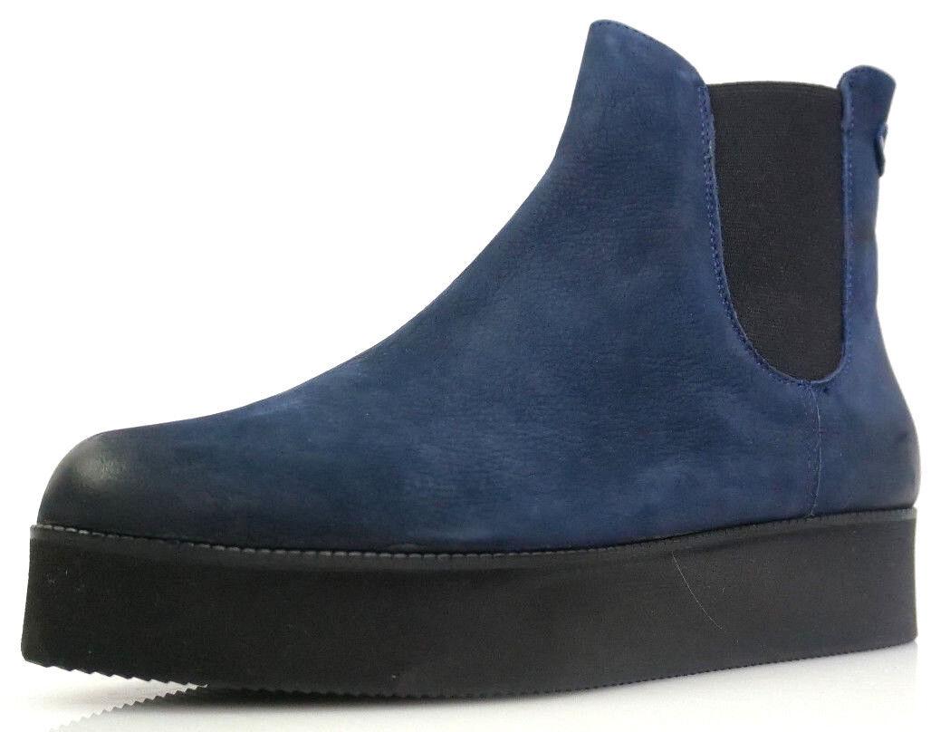 Bianco Combat Flatform 27-48834 Gr.37 Damen Schuhe Chelsea Combat Bianco Stiefel Stiefel Blau 2f5d9a
