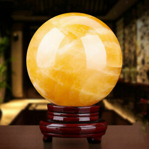 40mm-Citrine-Quartz-Crystal-Ball-Sphere-Healing-Reiki-Chakra-Stone-Stand-Base