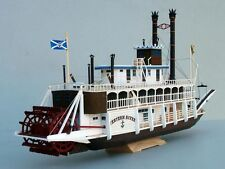 1:100 US Western River Mississippi Paddle Steamboat Handcraft Paper Model Kit
