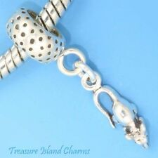 MOUSE RAT .925 Sterling Silver EUROPEAN EURO Dangle Bead Charm