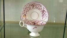 Pretty Regency Sunderland Lustre Ware Hand Painted Cup & Saucer 1800+