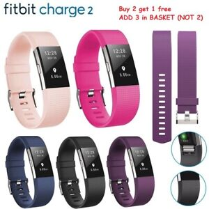For-Fitbit-Charge-2-Strap-Sports-Wrist-Band-Silicone-Replacement-Small-Large