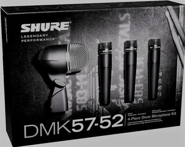 Like N E W Shure DMK57-52 Drum Mic Kit Authorised Dealer Open Box Never Used