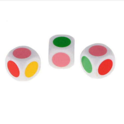 10Pcs D6 Color Dotted Dice Round Corner for Kids Building Blocks Gifts