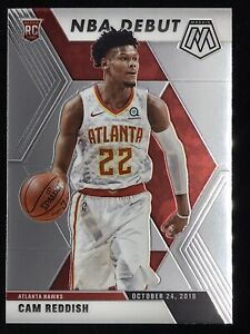 2019-20-Panini-Prizm-Mosaic-Cam-Reddish-Rookie-Card-RC-NBA-Debut-Atlanta-Hawks