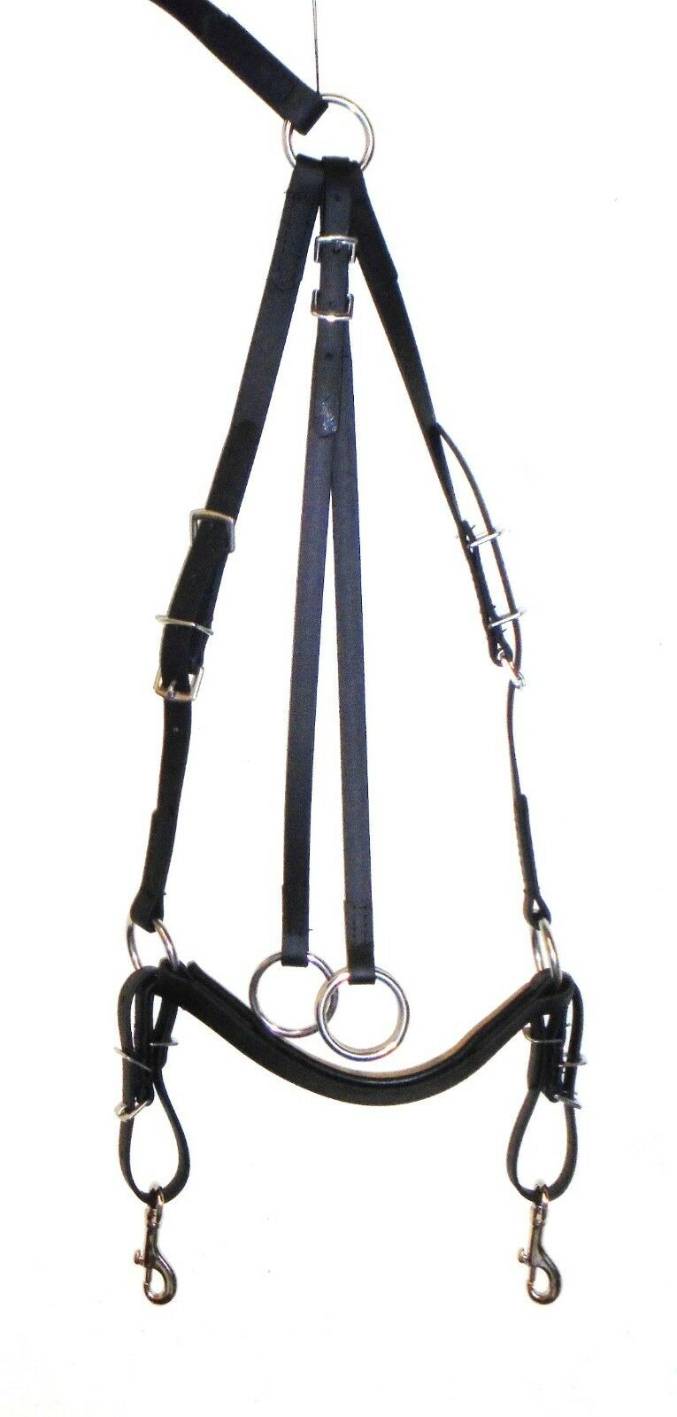 Hunting breastplate with running martingale attachment genuine beta biothane