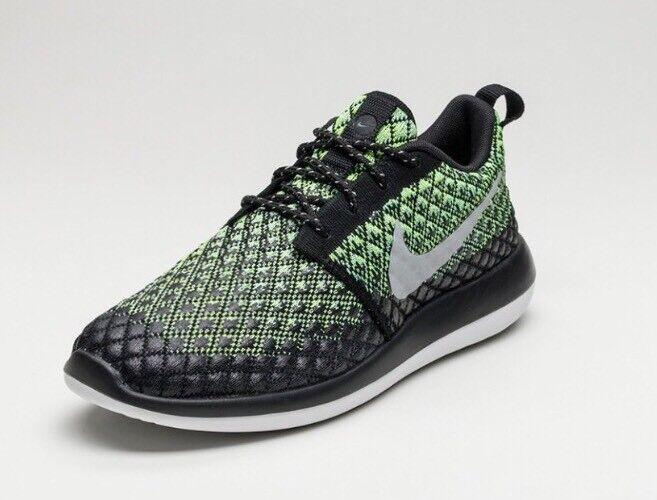f66b4b2317c2c New Nike Roshe Two Flyknit Flyknit Flyknit 365 Volt Wolf Grey Green Glow Black  Men 13