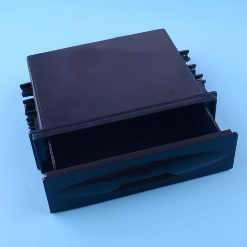Black Universal Car Dash Trim Single Din CD Player Radio Pocket Kit Storage Box
