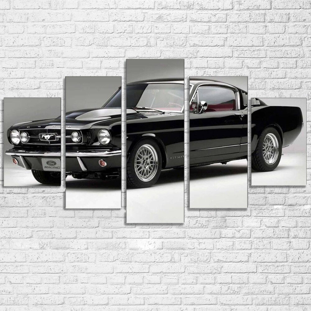 Luxury Ford Mustang Car 5 Panel Canvas Print Wall Art