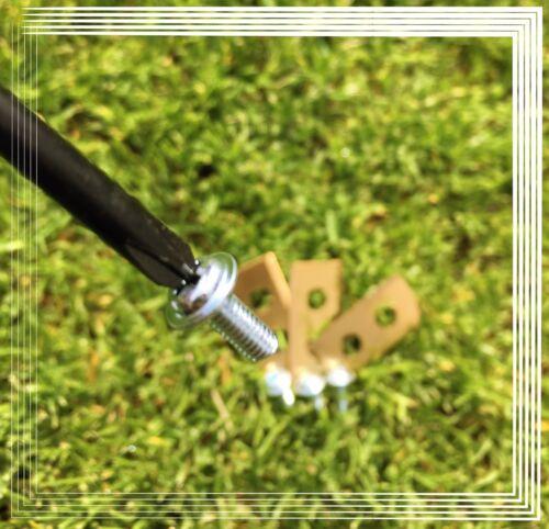 3 titanio rivestiti Coltello//lame per tutti i comuni Worx Landroid ® NUOVO!! !!