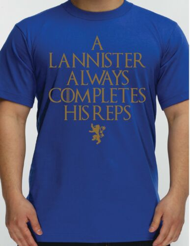 Game of Thrones Gym T Shirt Lannister