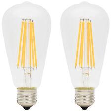 2x ST64 E27 6W Glühbirne LED Edison Lampe Vintage Retro Filament Birne 2300K