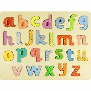 Professor-Poplar-039-s-Lower-case-Alphabet-ABCs-Wood-Jigsaw-Puzzle-Board