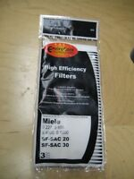Miele Super Air Clean Filters for S300 S600 Series Packages of 3 Vacuum Cleaner Accessories