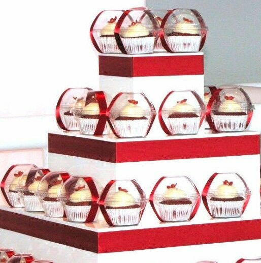 Clear Cupcake Favor Boxes