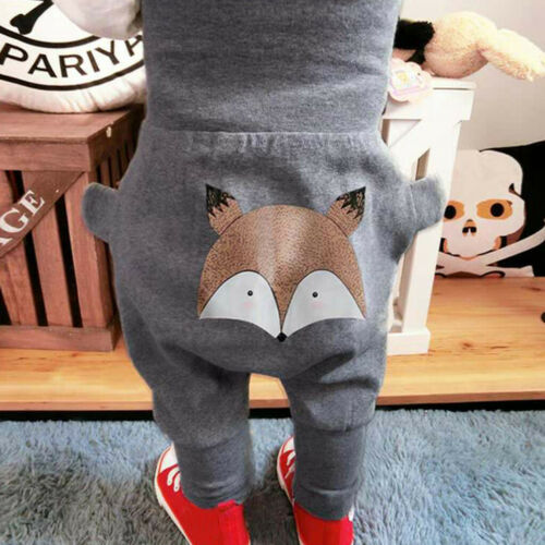 Toddler Baby Kids Girls Boys Character Print Pants Long Trousers Casual Clothes