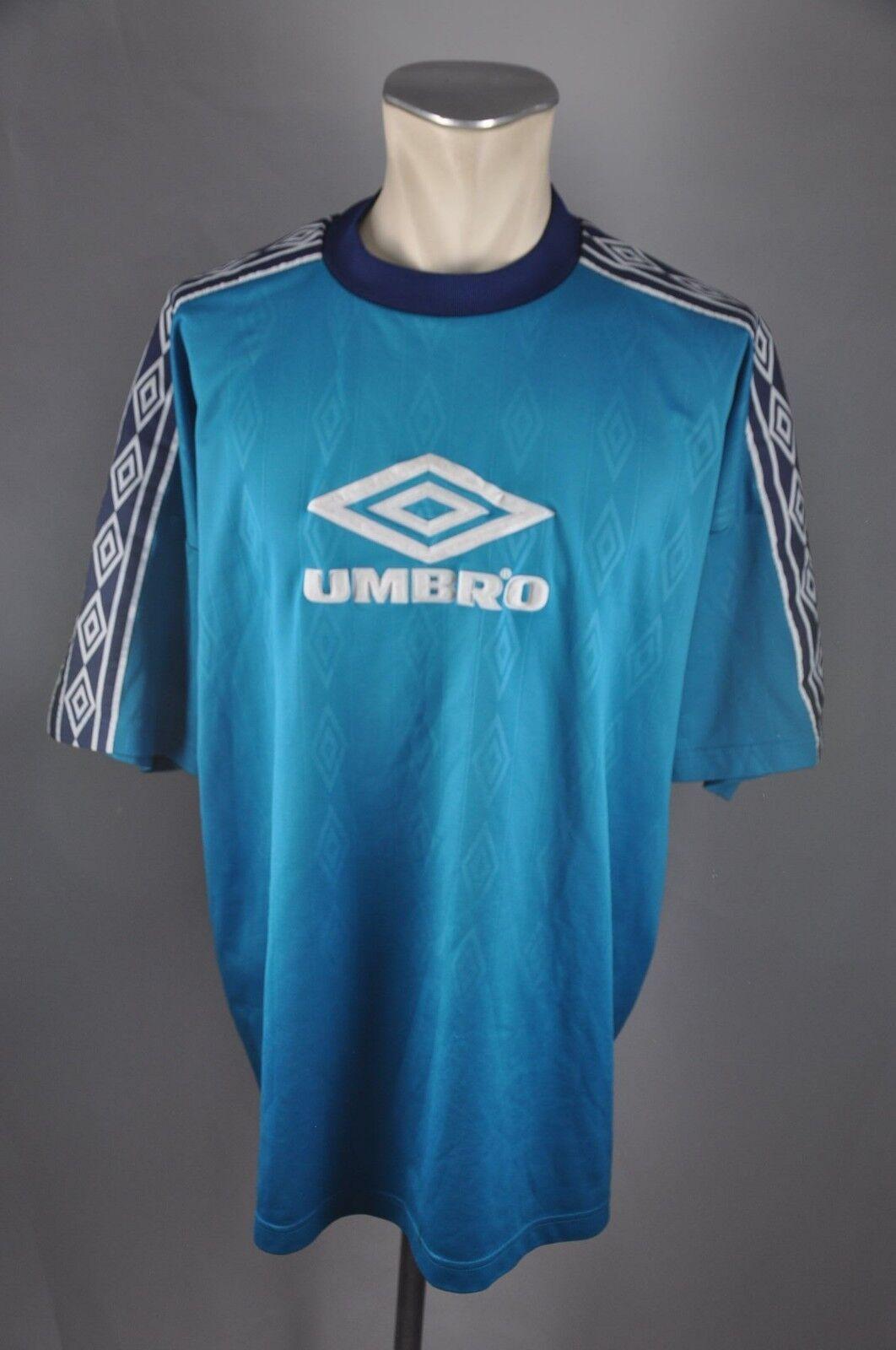 Umbro vintage Sportshirt Shirt Jersey Trikot Trikot Trikot Logo Gr. XXL VA7  | Moderne Muster  12f328
