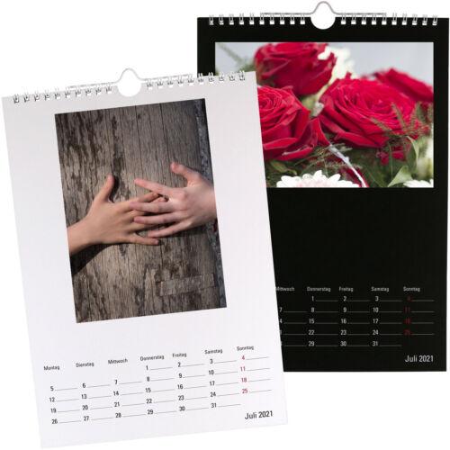 Premium Bastelkalender 2021 Fotokalender A4 für eigene Fotos selber gestalten