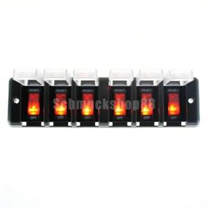 6-Gang-Wasserdicht-LED-Rocker-amp-Circuit-Breaker-Marine-Boot-Schalter-Panel