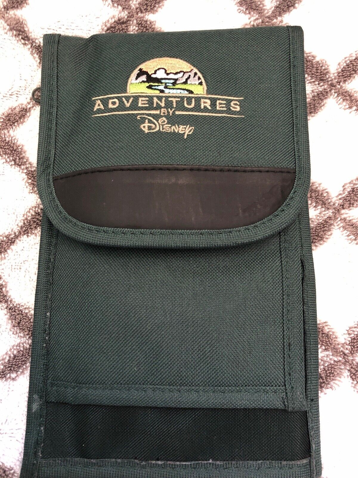 Adventures by Disney Embroidered Wallet Pouch PassportTravel Case Organizer Used
